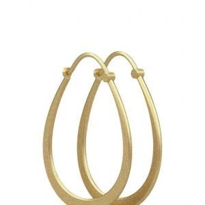 Julie Sandlau Classic Pear Hoop Earring Gold korvakorut