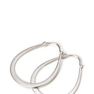 Julie Sandlau Classic Pear Hoop Earring Rhodium korvakorut