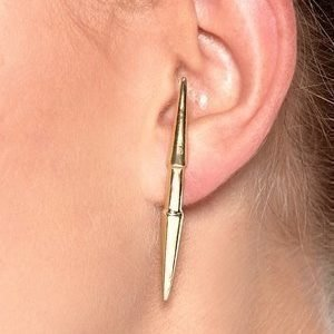 La Femme Confiante Erevus Stud Earring Kullansävyinen