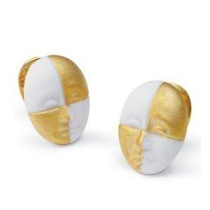 Lladro Earrings Harlequin Face Korvakorut