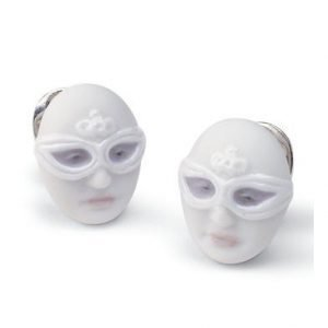 Lladro Earrings Mask Face Korvakorut