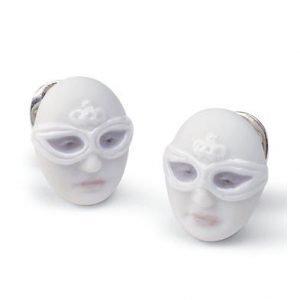 Lladro Earrings Mask Face Korvakorut