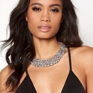 Love Rocks Glamour Crystal Collar Silver colour