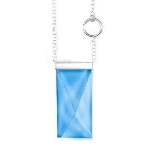 Målerås Glasbruk Palette Kaulakoru Sininen Suorakulmainen Pysty