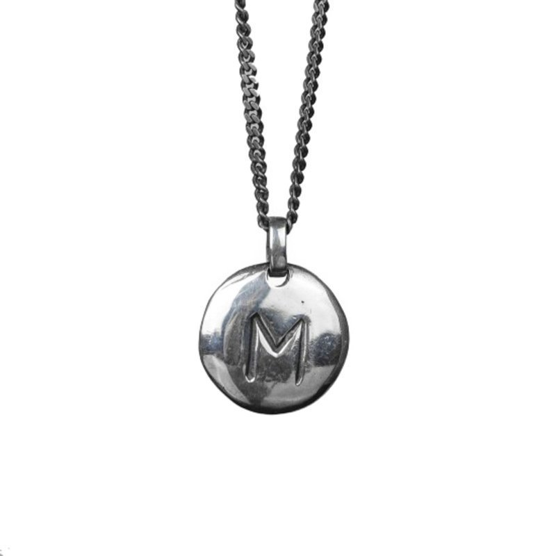 Nic & Friends Coin M Sterling Silver