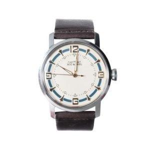 Nic & Mel Wristwatch Walker Blue Dark Brown