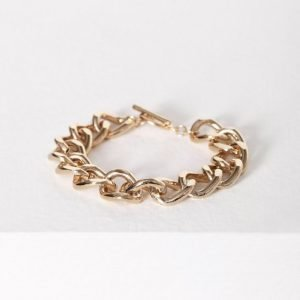 Nly Accessories Bar Chain Bracelet Rannekoru Kulta