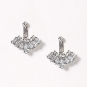 Nly Accessories Crystal Front & Back Earring Korvakorut Hopea