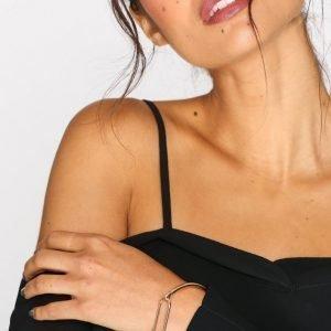 Nly Accessories Open Rectangle Bangle Bracelet Rannekoru Kulta