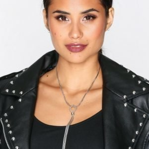 Nly Accessories Snake Chain Lariat Necklace Kaulakoru Hopea
