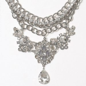 Nly Accessories Snow Sparkle Necklace Kaulakoru Hopea
