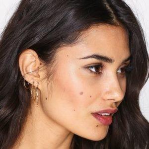 Nly Accessories Square Edge Hoop Multipack Earrings Korvakorut Kulta