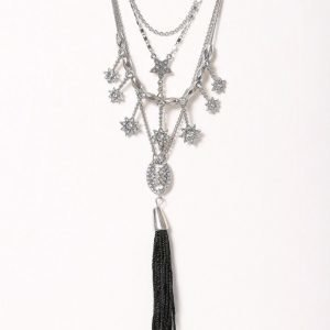 Nly Accessories Tassle Star Multirow Neck Kaulakoru Hopea