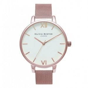 Olivia Burton Big Dial Mesh Kello Rose