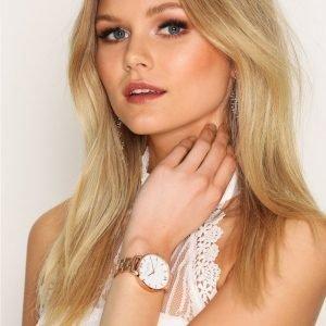 Olivia Burton White Dial Bracelet Kello Ruusukulta