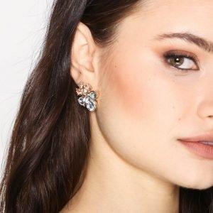 Only Onlvilma 2-Pack Stone Earring Acc Korvakorut Kulta