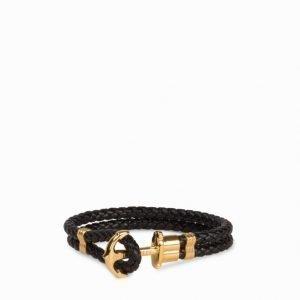 Paul Hewitt Phrep Gold Anchor Bracelet Rannekoru Black
