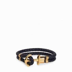 Paul Hewitt Phrep Gold Anchor Bracelet Rannekoru Navy Blue