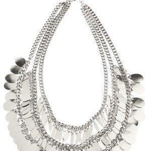 Pieces Basilla Necklace Silver Colour