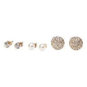 Pieces Diana earstud set Gold Colour