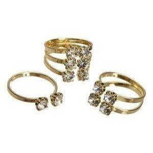 Pieces Diane rings Gold colour