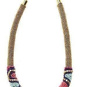 Pieces Diza Necklace Gold Colour