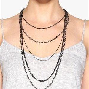 Pieces Elopa Necklace Gunmetal