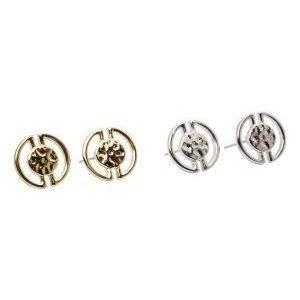 Pieces Paulina earstuds 2- pack hopeanvärinen/kullanvärinen
