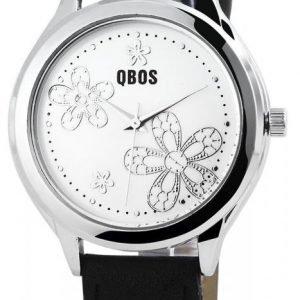 Qbos Silver Flower Rannekello