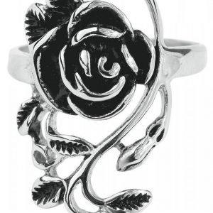 Rock-Silver Rose Sormus