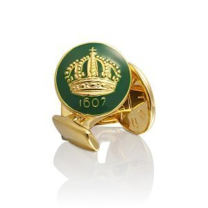 Skultuna Crown Kalvosinnapit Kulta British Racing Green