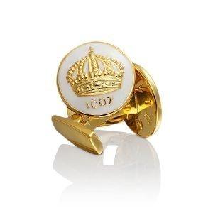 Skultuna Crown Kalvosinnapit Kulta Ivory White