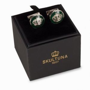 Skultuna Cuff Links The Crown Kalvosinnapit Racing Green