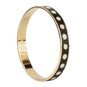Skultuna Dot Lane Bangle Rannekoru S Tummanharmaa 9 Mm