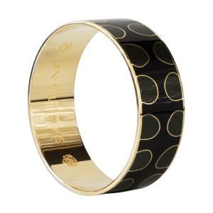 Skultuna Dot Trail Bangle Rannekoru M Musta 23 Mm