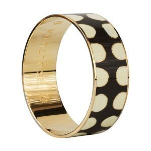 Skultuna Dot Trail Bangle Rannekoru S Tummanharmaa 23 Mm