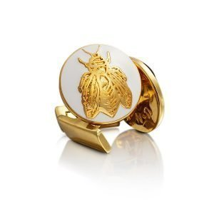 Skultuna Napoleon Bee Kalvosinnapit Kulta Ivory White