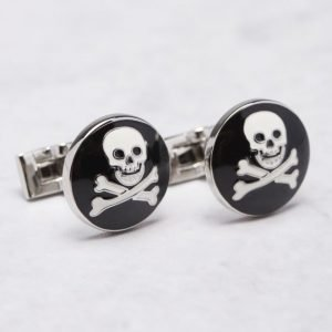 Skultuna Skull & Bones Black / White Links
