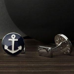 Skultuna The Anchor Kalvosinnapit Hopea / Sininen / Valkoinen