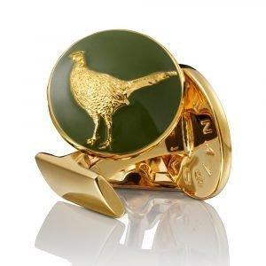 Skultuna The Hunter Kalvosinnapit Pheasant Kulta Vihreä