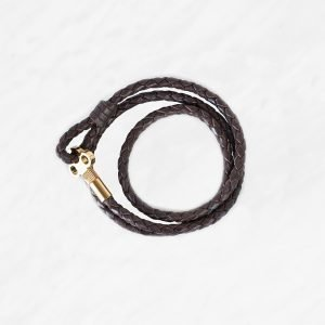 Skultuna The Key Nahkarannekoru M Tummanruskea / Kulta