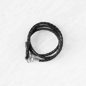 Skultuna The Key Nahkarannekoru S Musta / Teräs