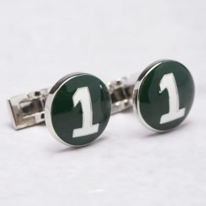 Skultuna The Racer Green/White Cuff Links