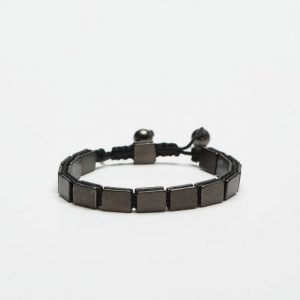 Smash Black Square Bracelet