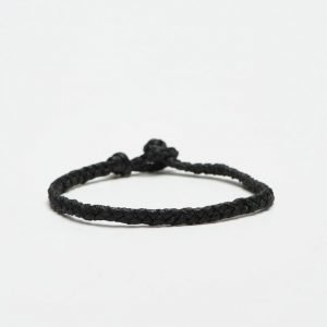 Smash Plait Bracelet Black