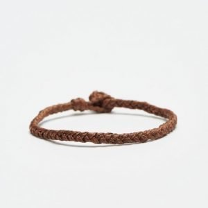 Smash Plait Bracelet Brown