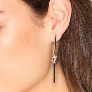 Sophie By Sophie Knot Stick Earrings Korvakorut Hopea