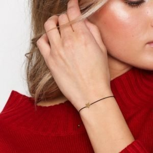 Sophie By Sophie Star Cord Bracelet Rannekoru Kulta / Musta