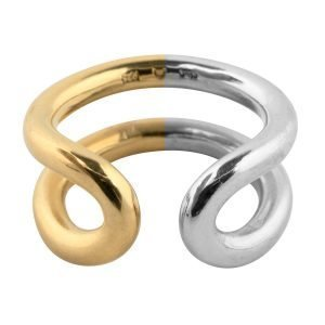 Sophie By Sophie Two Tone Ring Sormus 55 Kulta / Rhodium