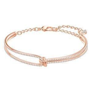 Swarovski Lifelong Rannerengas Crystal / Rose Gold Shiny M